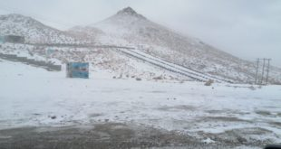 برف پاییزی در استان یزد