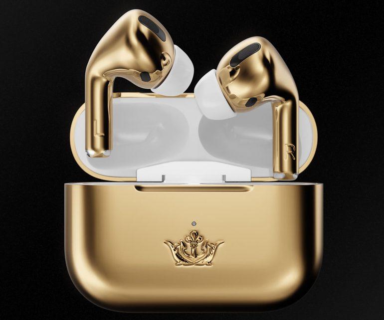 ایرپاد پرو با پوشش طلای 18 عیار ساخت برند روسی کاویار