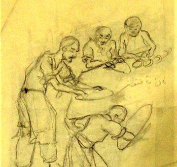 اهدای اثر طراحی به موزه استاد بهزاد مجموعه سعدآباد