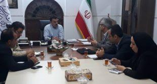 نشست هماندیشی و همکاری مدیرکل میراثفرهنگی، گردشگری و صنایعدستی بوشهر