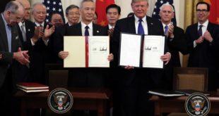 فاز نخست توافق تجاری بین آمریکا و چین