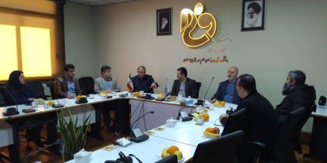 نشست همکاری دبیرخانه رویداد «ساری 2022» و دانشگاه فنی امام محمدباقر ساری