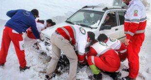 مسافر گرفتار در برف و کولاک