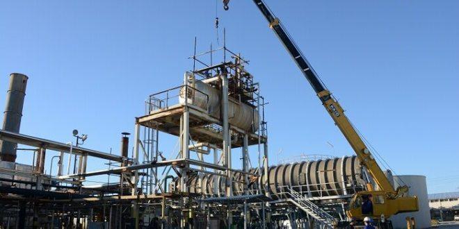 برج اکسیژنزدای دیگهای بخار در لاوان تعمیر شد