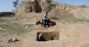 کاوش تپه باستانی تمگاوان جیرفت