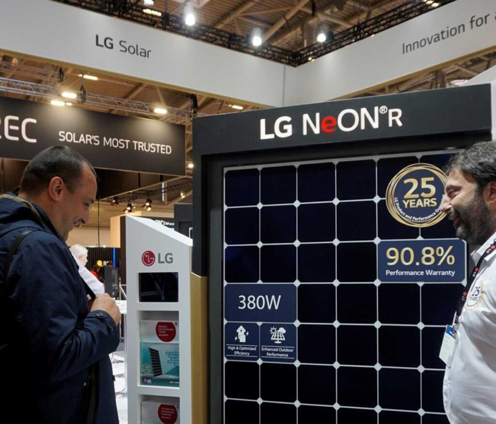 پنل خورشیدی الجی NeON H
